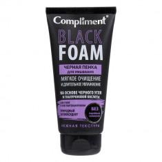 Compliment Black Foam Пенка черная для умывания мягкое очищение и длительное увлажнение 165мл