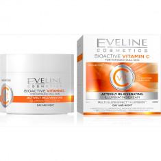 Eveline cosmetics 6 компонентов активно омолаживающий крем выравнивающий цвет лица биоактивный витамин С 50мл