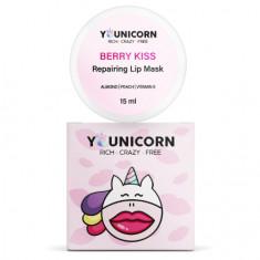 Younicorn, Маска для губ с шиммером Berry Kiss, 15 мл